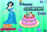 لعبة الاميرة ياسمين تزيين الكيكة