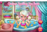 لعبة استحمام واستشوار ومكياج وتنظيف بشرة الاميرة