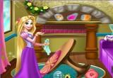 العاب رابونزيل تنظف منزلها