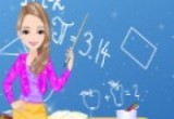 لعبة تلبيس معلمة الرياضيات