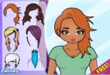 لعبة أجمل تسريحات الشعر