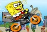 لعبة سبونج بوب ودراجته النارية
