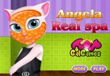 لعبة مكياج انجلا القطة المتحدثة