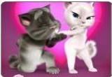 لعبة القط الناطق في عيد الحب