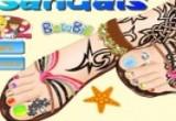 لعبة تصميم حذاء باربي الجميل