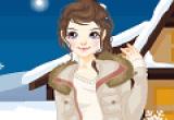 تلبيس البنت الناعمة ملابس الشتاء