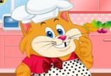 لعبة تلبيس القطة كيتي في المطبخ