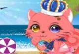 لعبة تلبيس القطة الملكة