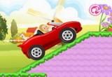 لعبة باربي سباق السيارات الحمراء