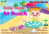 العاب بيبي هازل علي الشاطئ الجميل