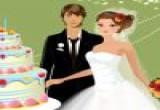 لعبة تقطيع كيكة ليلة زفاف العروسين