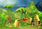 لعبة ديناصورات شرسة