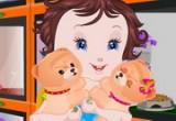 لعبة رعاية الطفلة الحيوانات