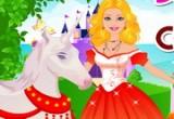لعبة باربي تنظف حصانها اليونيكورن