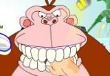 لعبة فحص اسنان الغوريلا في عيادة الاسنان