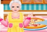 لعبة طبخ البيتزا مع الجدة