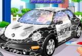 لعبة تنظيف وغسل سيارات الشرطة
