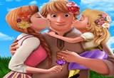 لعبة نزهة كريستوف وانا وطفليهما