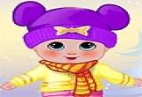 لعبة تلبيس ملابس الشتاء للطفل الرضيع