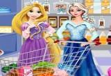 لعبة تسوق ربانزل والسا