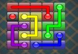 لعبة توصيل المربعات الملونة