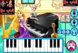 لعبة السا و روبانزل العزف على البيانو