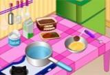 لعبة صنع البيتفور بالشوكولاتة والفرولة