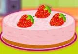 لعبة طبخ كيك الفراولة بالكريمة