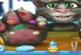 لعبة القط الناطق عند الطبيب