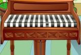 لعبة العزف على البيانو الجميل